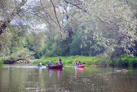 Canoes on Beaver River