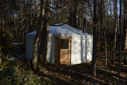 Rustic handcrafted comfortable Yurts