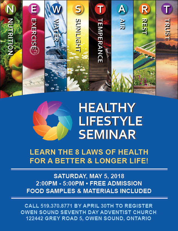 Newstart Healthy Living Seminar Grey County Tourism
