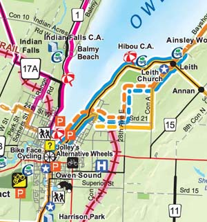 Owen Sound Cycling Route Grey County Tourism