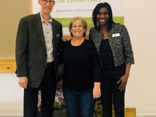 Tracie Bertrand Peterborough Tourism, Bryan Plumstead & Alison Theodore Grey County