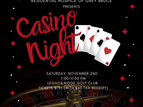 Residential Hospice of Grey Bruce presents Casino Night