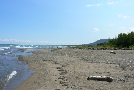 Great sandy beach, just north of the parking lot!