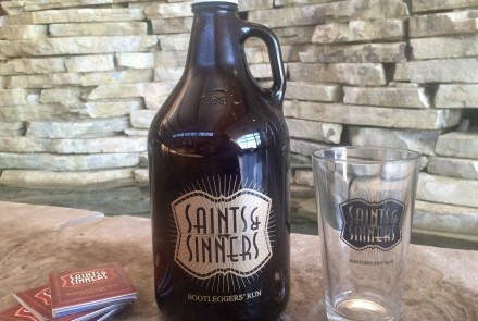 Saints & Sinners growler, tumbler and maps