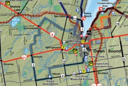 Owen Sound Girl Guide Cycling Route