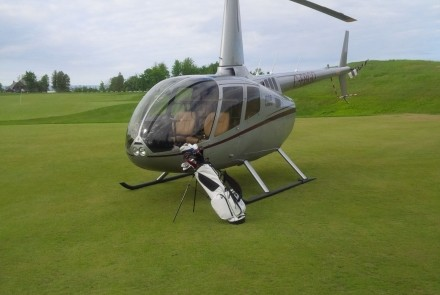 Helicopter golf trip