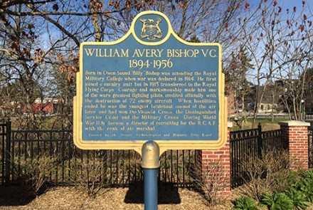 William Avery Bishop plaque