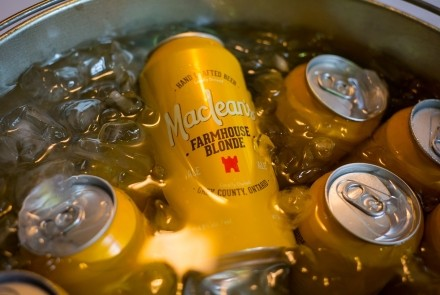 MacLean's Farmhouse Blonde ale on ice