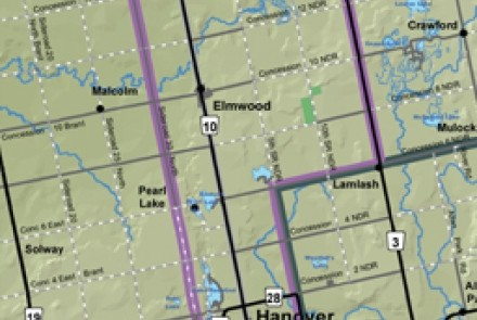 Saugeen route map