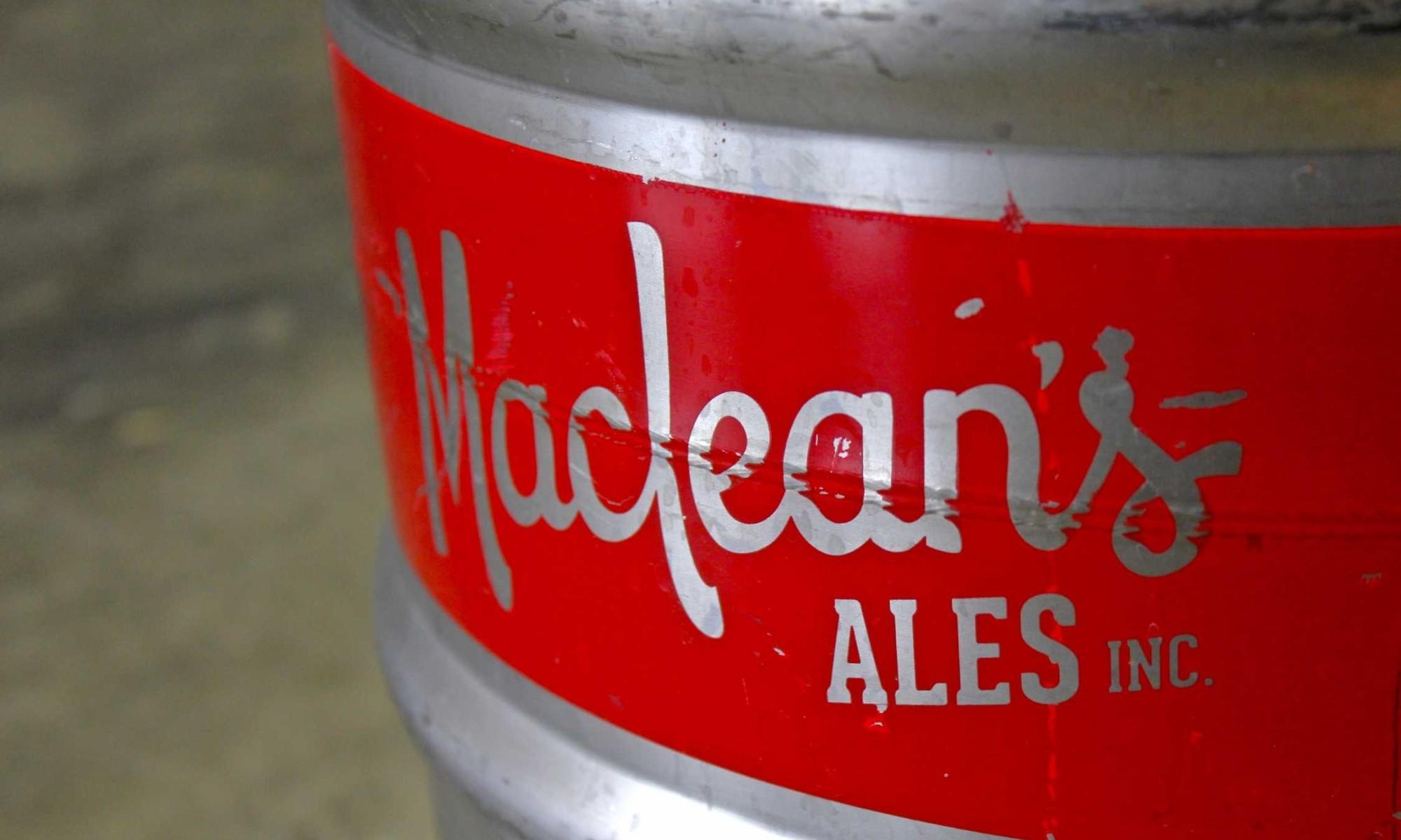 Maclean's Ales keg