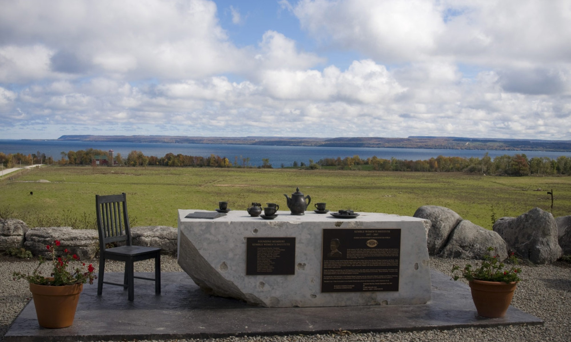 Kemble Women's Institute Lookout with table and tea set