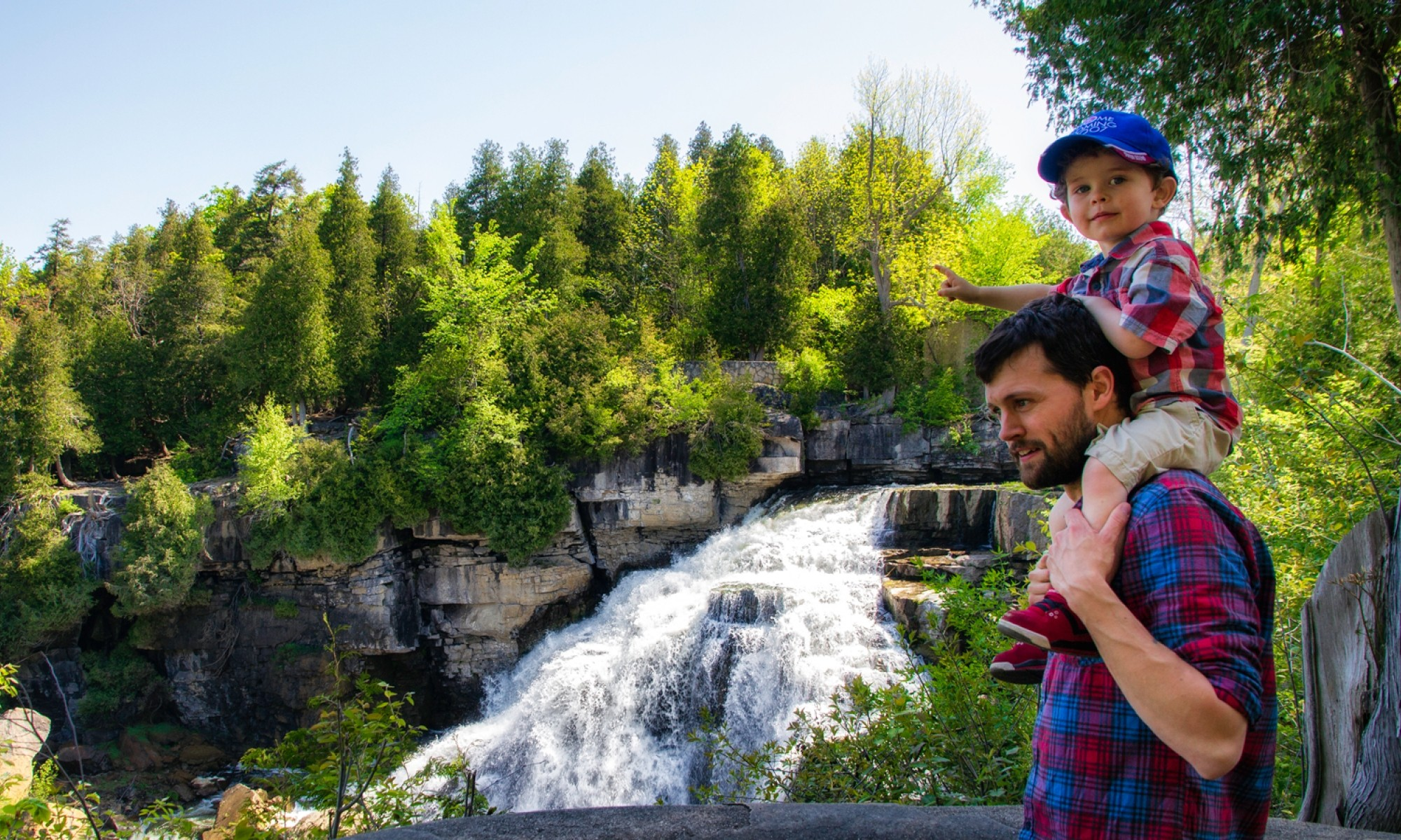 Father and Son at Inglis Falls